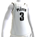 KKZ White and Black Player 3 Jersey