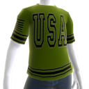 USA Soccer Green Jersey Black