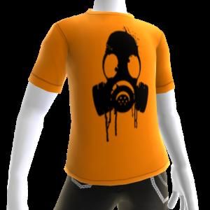Black Gas Mask Orange Tee