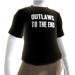 "T-shirt ""Outlaws To The End"" (Foras-da-lei até ao fim)"