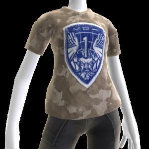 Camiseta con parche de la Fuerza de combate Atlas