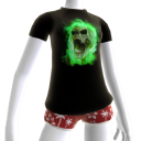 Green Fire Skull Shirt