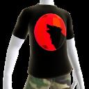 Red Chrome Wolf Black Shirt
