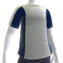 Blaues Workout-Shirt
