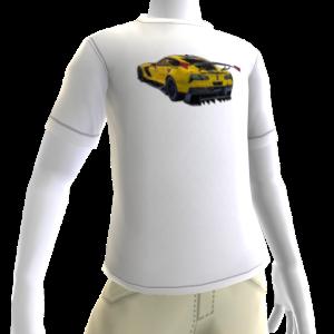 2016 C7.R Edition Corvette White Tee 2