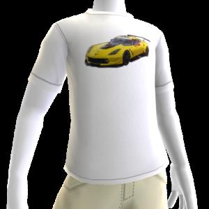 2016 C7.R Edition Corvette White Tee 3
