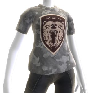 Camiseta con parche de la Fuerza de combate Grizzy