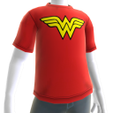 Camiseta com Logotipo do Wonder Woman