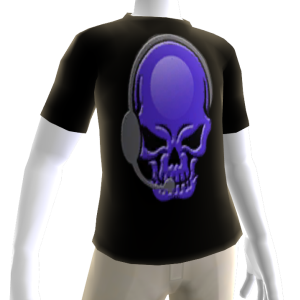 Epic Horror Skull Gamer Purple T-Shirt
