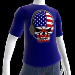 USA Soccer Gamer Skull Blue