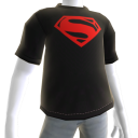 Black-Red Man of Steel Tee