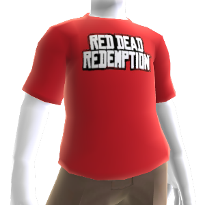 T-shirt com logótipo Red Dead Redemption destacado