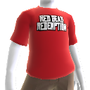 T-shirt com logótipo Red Dead Redemption destacado