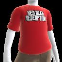 Camiseta con contorno de logotipo de Red Dead Redemption