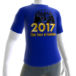 2017 Year of Gaming Blue Tee