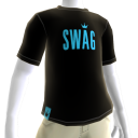 Teal on Black Swag Tee