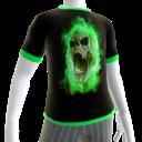 Green Fire Skull Green Trim