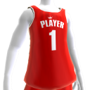 KKZ Red and White Player 1 Jersey