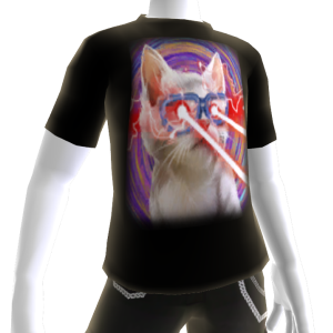 Epic Laser Cat 1 Swirls T-Shirt