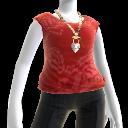T-Shirt mit roter Schleife