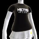Camiseta negra con el logotipo de Metro 2033