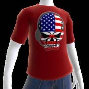 USA Soccer Gamer Skull Red
