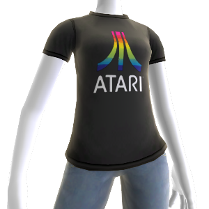 Black Atari Logo Shirt