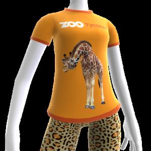 Футболка Zoo Tycoon с жирафом