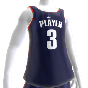 KKZ Blue White and Red Player 3 Jersey