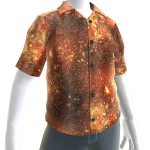 Fire Button Up Shirt
