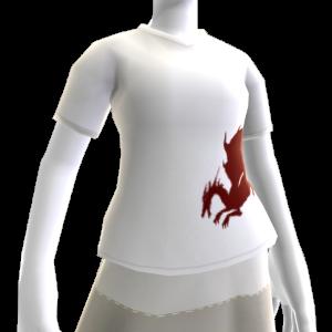T-shirt sangue del drago bianca