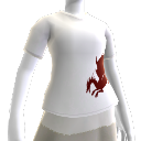 Weißes Blutdrachen-T-Shirt