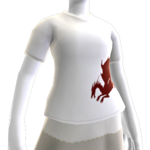 T-shirt Branca Dragão de Sangue