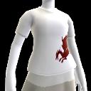Camiseta blanca de sangre de dragón