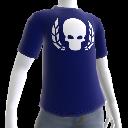 Ultramarine T-Shirt mit Schädel-Kranz