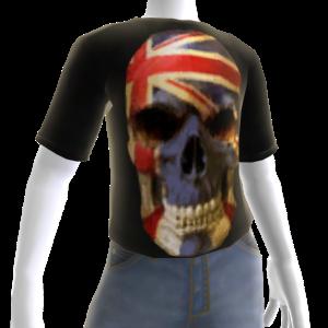 3d UK Soccer Skull Shirt