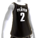 KKZ Black and White Player 2 Jersey