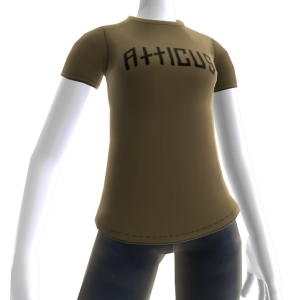 Atticus Double Slash Taupe t-shirt