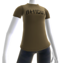 Atticus Double Slash Taupe t-shirt