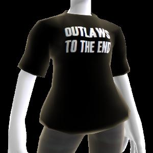 """T-shirt """"Outlaws To The End"""" (Foras-da-lei até ao fim)"""
