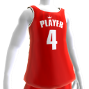 KKZ Red and White Player 4 Jersey