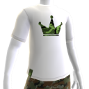 Camo on White Crown Tee