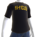 Atticus Double Slash Black t-shirt