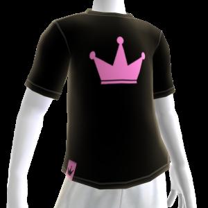 Pink on Black Crown Tee