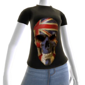 3d UK Soccer Skull Shirt