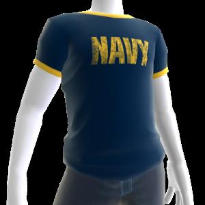 Navy Ringer Tee - Blue