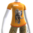 Camiseta de Elefante do Zoo Tycoon