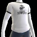 Marines Semper Fi Tee - White
