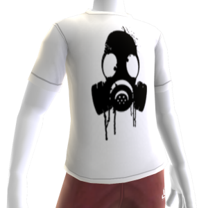 Black Gas Mask White Tee