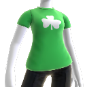 Camiseta verde con trébol